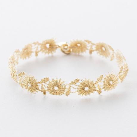 NAB012:メタリックフラワーレースブレスレット /  Metallic Flower Lace Bracelet