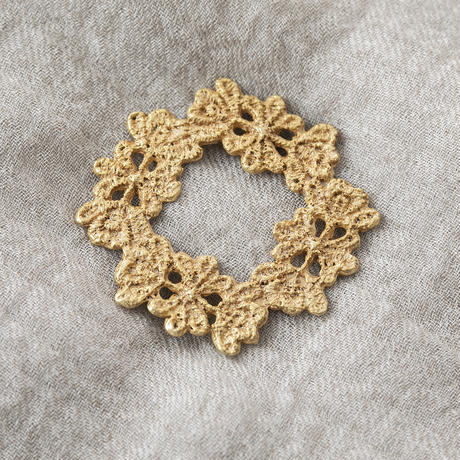 YSZ081:レースプレート4リングブローチ/  Lace plate 4rings Brooch