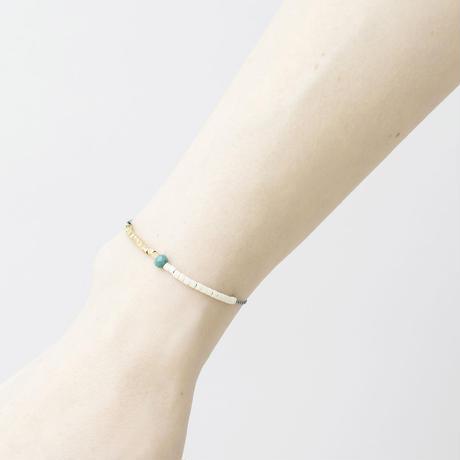 GAB039:くみひも×2ビーズブレスレット /  Kumihimo with 2beads Bracelet