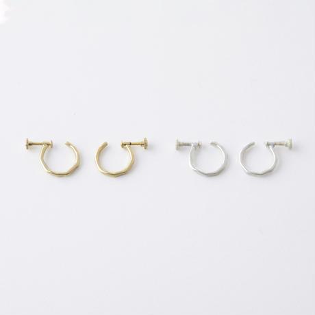 GSE036:真鍮ハンマープレスイヤリング(WAVE)/  Brass Hammer Press Earrings (WAVE)