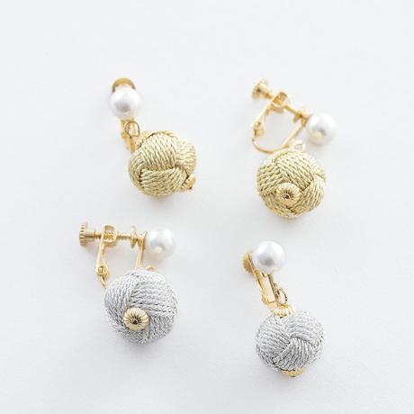 RSE001:おだまき貝パールイヤリング  (大)/   Odamaki & Pearl shell Earrings(L)