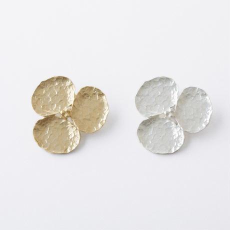 RAZ023: ツチメフラワーブローチ / Flower Hammered finish brooch