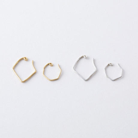 KAE012:ボクシーフープイヤカフセット / Boxy hoop ear cuff set