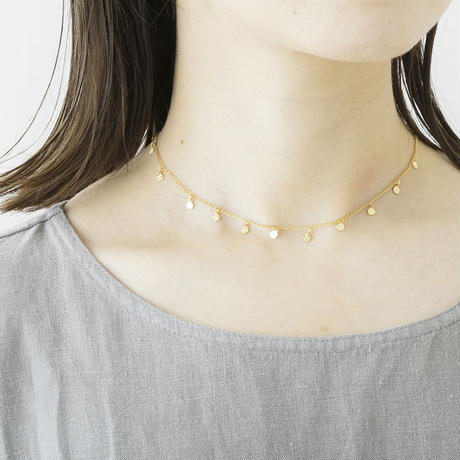 RSN098:ドットプレートネックレス / Dot plate Necklace
