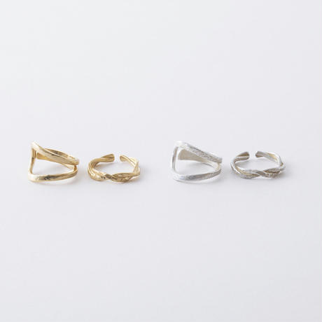 KAR019:ツイスト&ドロップ2セットリング / Twist & Drop 2 Set Ring