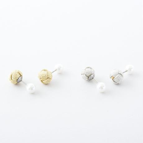 CAP001:おだまきダブルフェイスピアス  /   Odamaki & Pearl shell Double Face Pierce