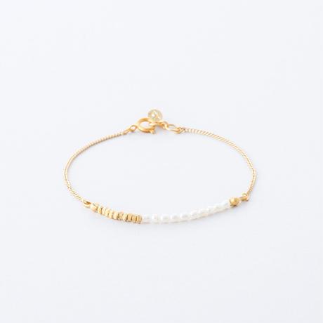 LSB058:淡水シードパールチェーンブレス  /  Freshwater seed pearl Chain Bracelet
