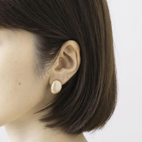 RAE039:ソリッドビーンズイヤリング /  Solid Beans Earring