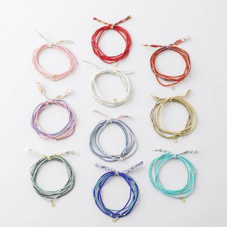 NSB005:グラスビーズ5連ブレスレット / Glass beads 5set Bracelet