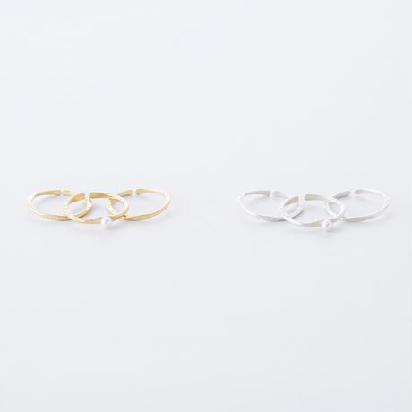 LSR054:フロウライン3setリング(パール)/   Flow Line 3set Ring  (Pearl)