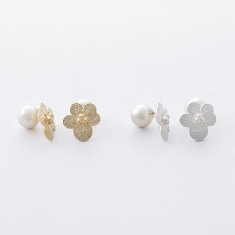 ISP105:サークルフラワーピアス  /  Circle Flower Pierce