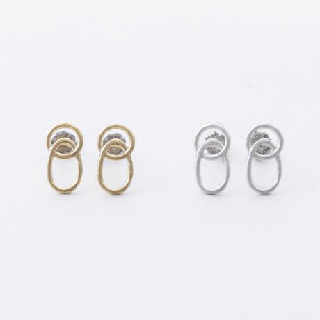 ISP102:ツインリングピアス /  Twin Ring Pierce