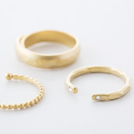 GAR050:グレイニー3setリング / Grainy design 3set Ring