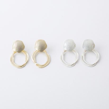 RAE037:ソリッドウエーブイヤリング /  Solid &Wave Earring