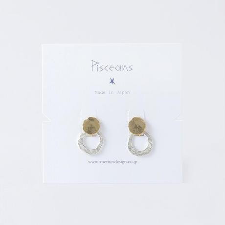 【オンラインショップ限定】RSE042 : 月の輪2way イヤリング/ Moon&Ring 2way Earring