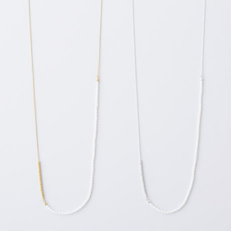 淡水シードパールチェーンロングネックレス  /  Freshwater seed pearl Long Necklace