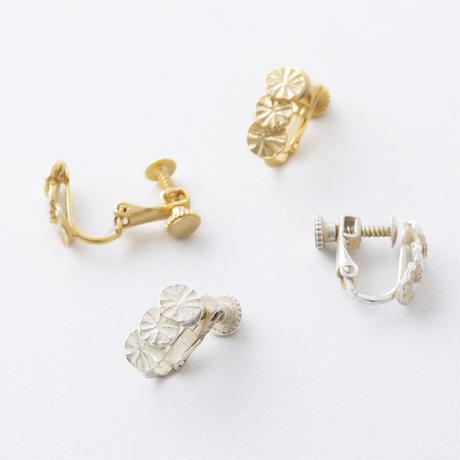 YSE078:ラディアルプレートイヤリング  /  Radial plate Earring