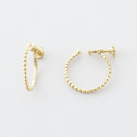 グレイニーフープイヤリング  /  Grainy design hoop Earrings