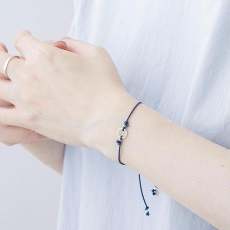 ISB101:くみひも×月の輪ブレスレット /  Kumihimo with Moon ring Bracelet