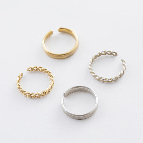 RSR023:チェーン&ラップ2setリング / Chain &  Wrap 2 Set Ring