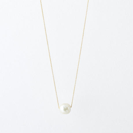 YAN085-01:バロックパール1ポイントネックレス  /  Baroque pearl 1 point Necklace