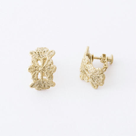 YSE080:レースプレートイヤリング /  Lace plate Earring