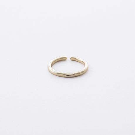 ISR804:WAVEラインリング L(ゴールド)/  WAVE LINE Ring  L(SV925)