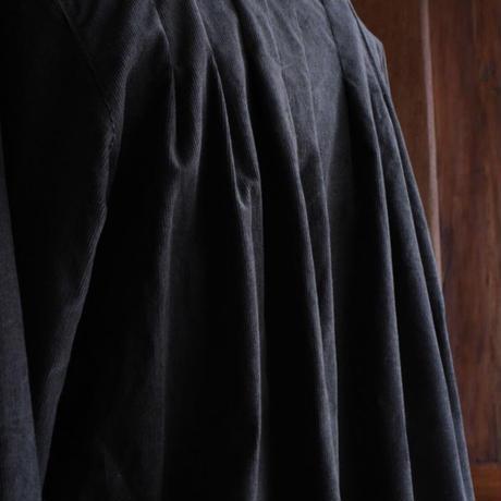 tita  コーデュロイオールドスタイルシャツワンピース チャコールグレー