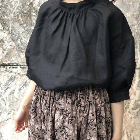 tita ハンドプリントロングギャザースカート