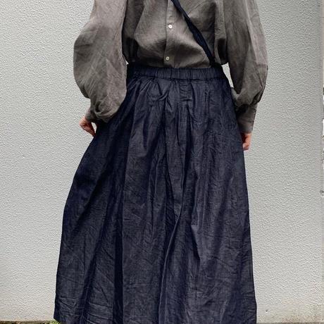 gram デニムワンショルダースカート long