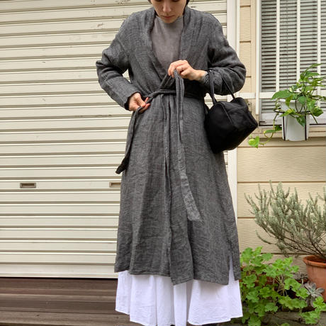asabito リネンローブカーディガン