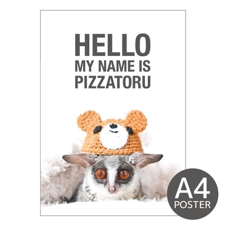 PIZZATORU mini Poster / ミニポスターA4サイズ [Bear]
