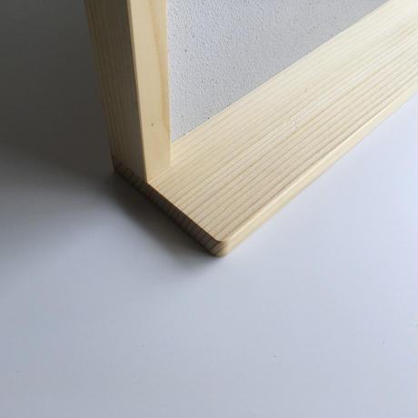棚付きコルクボード グレー 60 x 90 cm