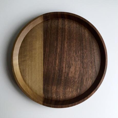 7寸皿 ウォールナット x ホオ