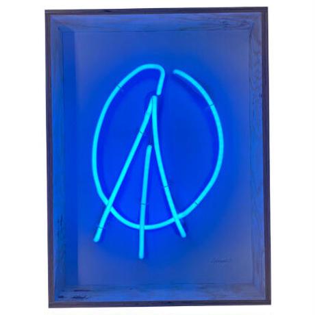 "NEON WOODBOX""PEACE MARK"" (BLUE)"