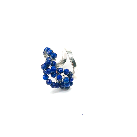 Happiness of the loop small earcuff-lapis lazuli-