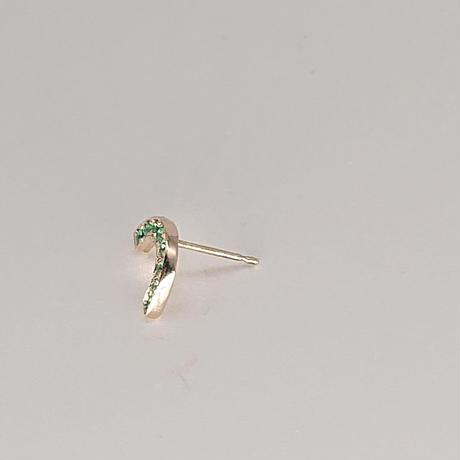 Rainbow pierced earrings-sapphire-