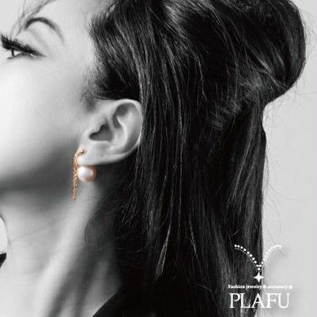 CORON series♥Pearl × Gold  -reversible earrings