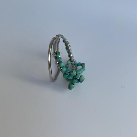 Happiness of the loop earcuff turquoise