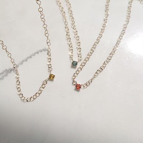moon & sapphire star necklace-  sapphire-