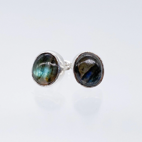 PLAFU gem pierced earrings-ラブラドライト-