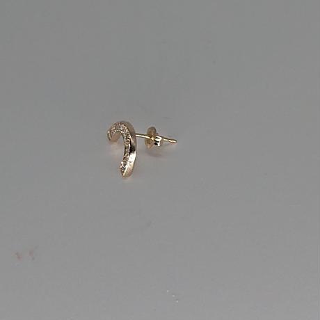 Rainbow pierced earrings-diamonds-