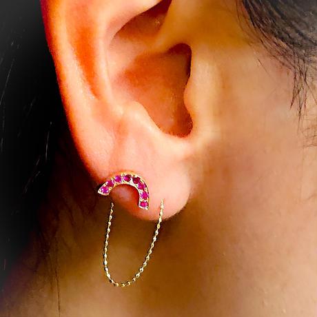 k10素材 0.65~0.7太さ用のチェーンキャッチ 片耳販売