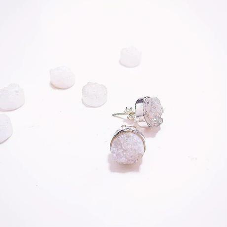 PLAFU gem -Druzy white-
