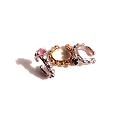 Sea anemone earcuff 石付-ピンクトルマリン-