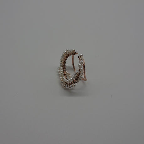 Happiness of the loop earcuff-pearl -pinkgold