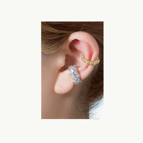 Sea anemone  series -Dot earcuff-gold