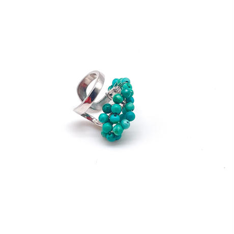 happiness of the loop small earcuff turquoise A