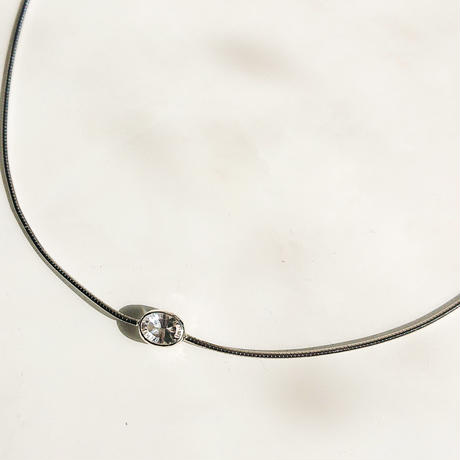 Diamond ring necklace-Crystal -concave cut