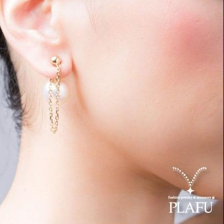 CORON series♥Pearl × Gold  -reversible earrings C